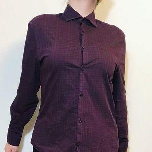 Calvin Klein plaid button up shirt